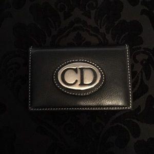 Christian Dior credit card wallet
